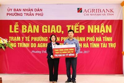 Hà Tĩnh: Khánh thành Trạm y tế do Agribank tài trợ kinh phí