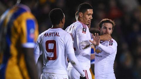Đánh bại Shrewsbury Town 3-0, M.U giành vé vào tứ kết FA Cup