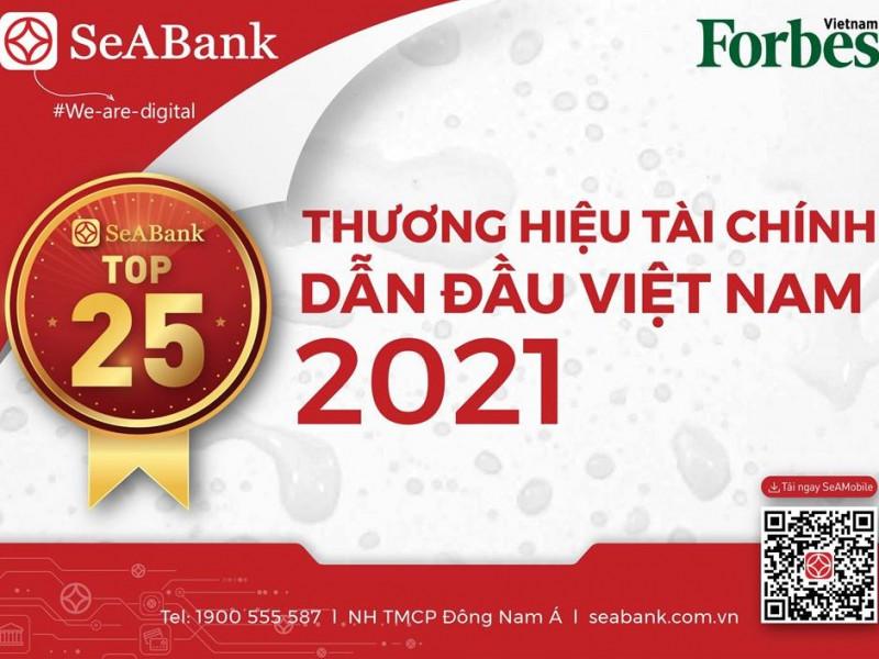 SeABank nằm trong Top 25 Thương hiệu tài chính dẫn đầu Việt Nam 2021