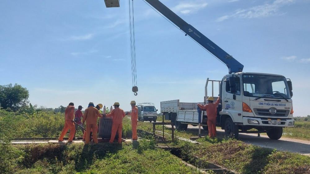 TT-Huế nỗ lực cấp điện các trạm bơm phục vụ tưới chống hạn vụ hè thu năm 2021