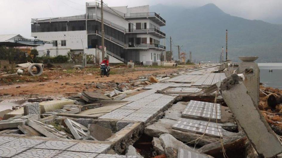Dự án này từng bị hư hỏng nặng nề do bão lụt (dù đang thi công) vào cuối năm 2020.
